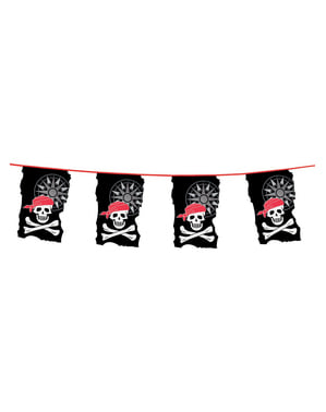 Guirlande med piratflag