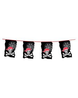 Slinger met piraten wimpels