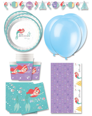 Premium Ariel Den Lille Havfrue Fødselsdagsdekorationer til 16 personer