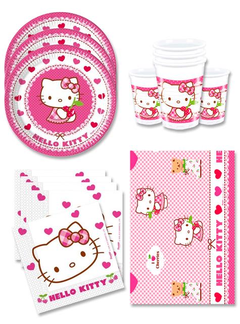 Decoración cumpleaños Hello Kitty 16 personas