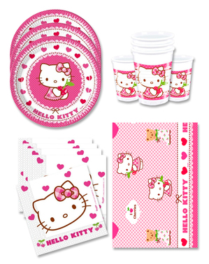 Hello Kitty Birthday Decorations for 16 People