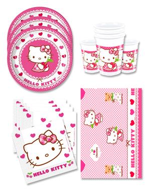 Hello Kitty Bursdagspynt for 16 Personer