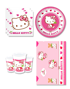Hello Kitty syntymäpäiväkoristeet 8 hengelle