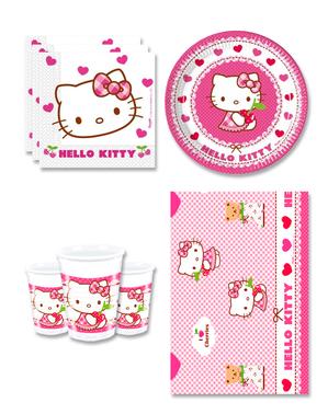 Hello Kitty Verjaardagsdecoraties voor 8 personen