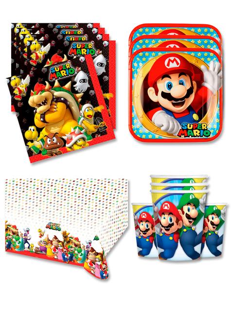 Decoración cumpleaños Mario 16 personas