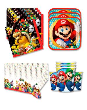 Mario Fødselsdagsdekorationer til 16 personer