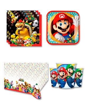 Narozeninové dekorace Mario pro 8 lidí