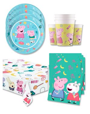 Peppa Pig Verjaardagsdecoratie voor 16 personen