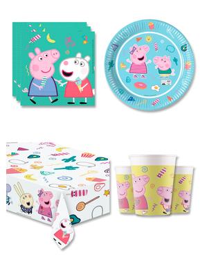 Peppa Pig Verjaardagsdecoratie voor 8 personen