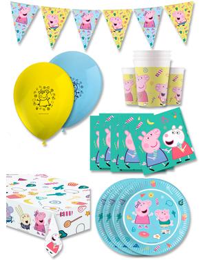 Décoration anniversaire premium Peppa Pig 16 personnes