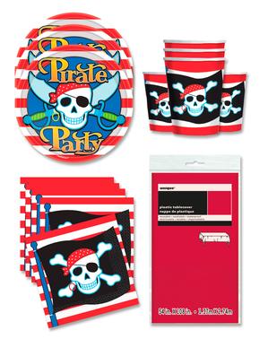 Dekoracje imprezowe Piraci na 16 osób