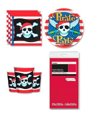Dekoracje imprezowe Piraci na 8 osób