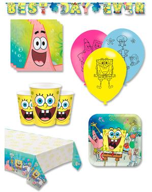 Narozeninové dekorace SpongeBob premium pro 8 lidí