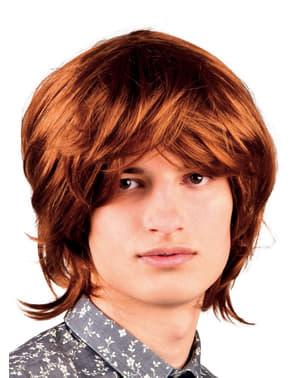 Miesten ruskea 60-luvun muusikon peruukki