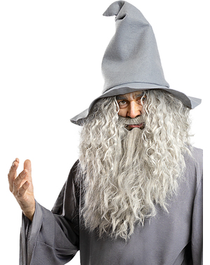 Gandalf Perücke mit Bart - Der Herr der Ringe