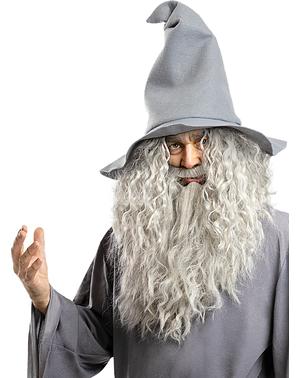 Peruca de Gandalf com barba - O Senhor dos Anéis