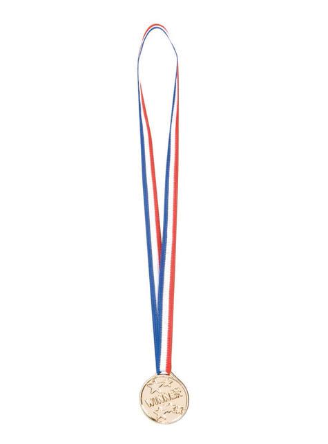 Set de 6 medallas de ganador para niño