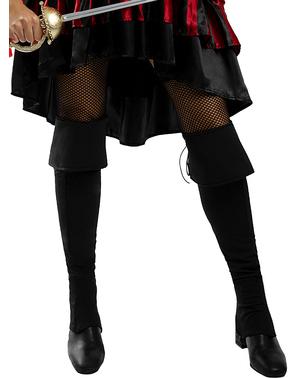 Długie czarne Nakładki na buty dla kobiet