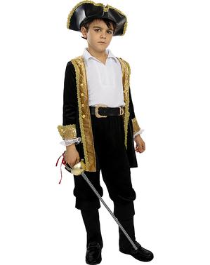 Čierny klobúk pre deti v koloniálnom štýle