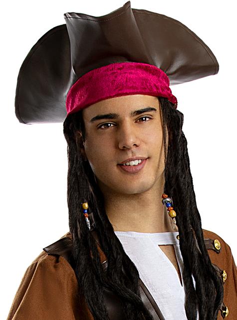 Sombrero de pirata marrón