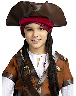 Bruine piraten hoed voor kinderen