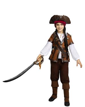 Chapéu de pirata castanho para menino