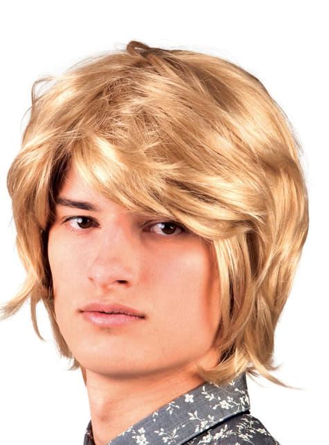 Blonde pruik van musicus uit jaren 60 voor mannen