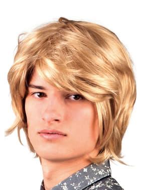 Miesten vaalea 60- luvun muusikko peruukki