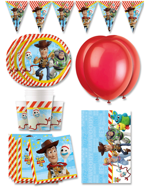 Prémiové narodeninové ozdoby Toy Story 4 na párty pre 16 osôb