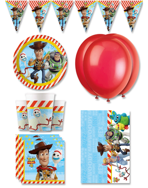 Πολυτελή Διακοσμητικά για Πάρτι Γενεθλίων Η Ιστορία των Παιχνιδιών 4 για 8 Άτομα