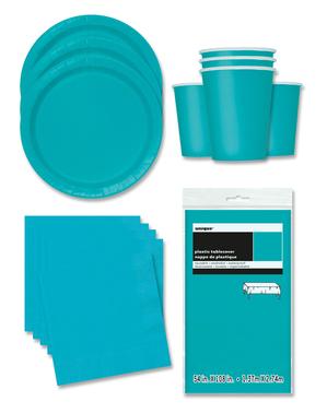 Party Deko blau 16 Personen - Basicfarben Collection