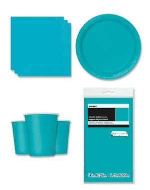 Party Deko blau 8 Personen - Basicfarben Collection