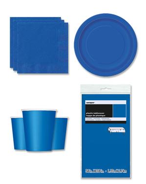 Ciemnoniebieskie Dekoracje imprezowe na 8 osób - Linia Kolorów Podstawowych