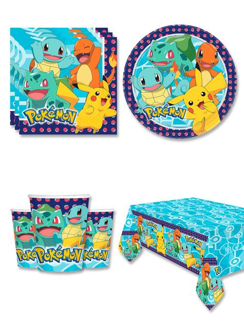 Décoration anniversaire Pokémon 8 personnes