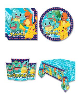Pokémon Fødselsdagsdekorationer til 8 personer