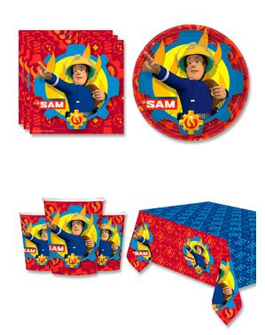 Decorazioni compleanno Sam il Pompiere 8 persone