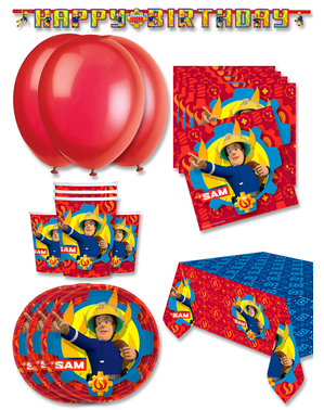 Premium Fireman Sam Birthday Decorations for 16 People