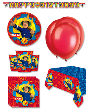Premium Fireman Sam Birthday Decorations for 8 People