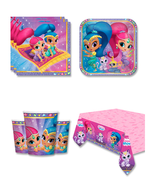 Shimmer y Shine Birthday Decorations for 8 People
