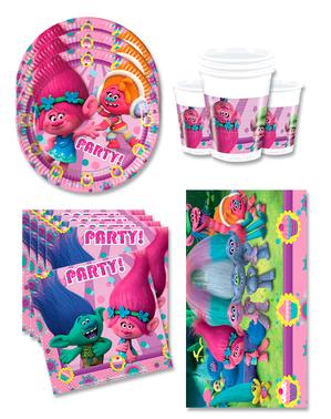 Narodeninové dekorácie Trollovia na párty pre 16 osôb