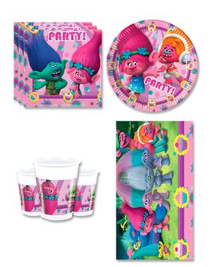 Narodeninové dekorácie Trollovia na párty pre 8 osôb