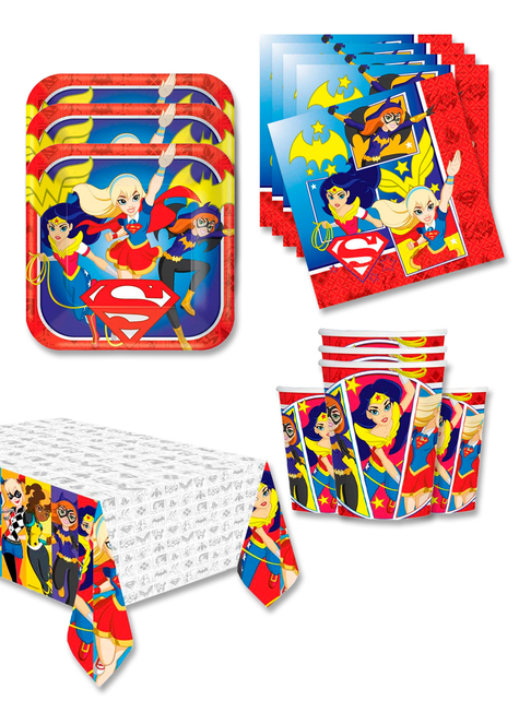 Decoración cumpleaños DC Super Hero Girls 16 personas