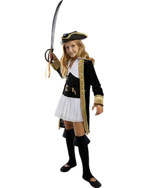 Piratin Kostüm deluxe für Mädchen - Kolonial Kollektion