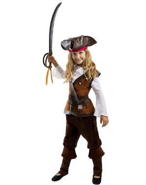 Pirat Kostume til Piger - Caribisk Samling