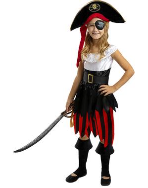 Pirat Kostume til Piger - Sørøver Samling