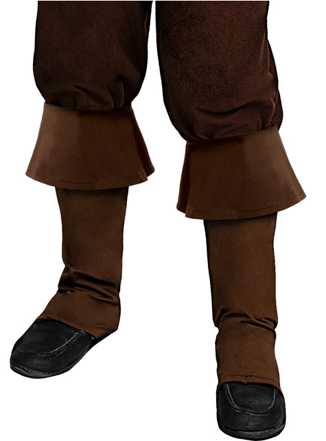 Brown Pirate Boot Covers for Kids