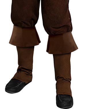 Tapa botas de pirata castanho para menino