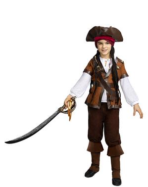 Bruine piraten overlaarzen voor kinderen