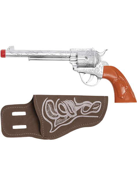 Revolver de vaquero con funda