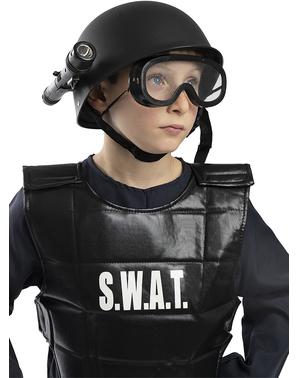Politi SWAT Hjelm til gutter